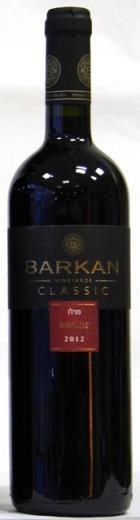 MERLOT BARKAN Classic wines Israel, obj. 0,75 L, Alk. 13 % obj.