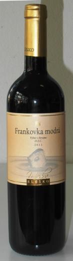 Frankovka Modrá výber z hrozna 2011 Elesko vinárstvo
