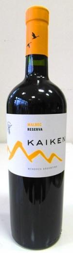 Malbec Kaiken Reserva Mendoza Argentina, obj. 0,75 L. Alk. 14,5 % obj.