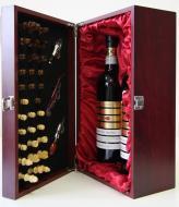 VYPREDANÉ - Krabica Obal Kazeta 2 fľaše víno drevený šach someliér sada 2