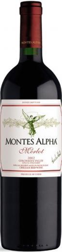 MERLOT Montes Alpha vino Chile - Čile, obj. 0,75 L, Alk. 14,5 % obj.