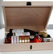 VYPREDANÉ - Obal Krabica Kufor Box Kazeta Kniha na 3 ks fliaš víno 6644