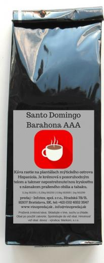 Santo Domingo Barahona AAA pražená zrnková káva 100 % Arabica 100g