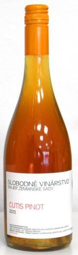 VYPREDANÉ - CUTIS PINOTER Slobodné vinárstvo 2015 nefiltrované oranžové víno, orange wine, obj. 0,75 L., Alk. 13 % obj.
