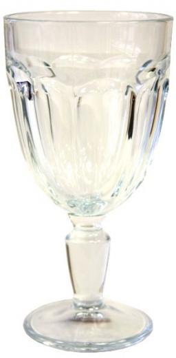 Pohár - Kalich - Čaša na víno RETRO, 340 ml, Casablanca , číry