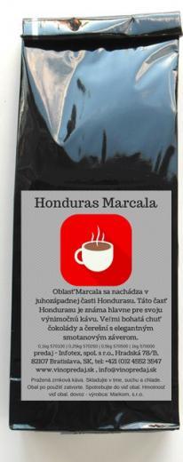 HONDURAS Marcala BIO Fairtrade pražená zrnková káva 250 g