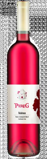 RUBINUS Pereg Rosé víno z čiernych ríbezlí, obj.0,75 L, Alk. 11 % obj.