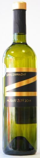 VYPREDANÉ - MUŠKÁT ŽLTÝ Zápražný 2014 CHOP polosuché víno, obj. 0,75 L, Alk. 12 % obj.