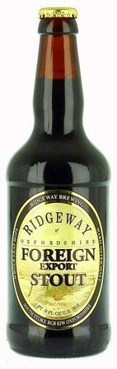 RIDGEWAY Oxfordshire Foreign Export Stout beer - pivo whole leaf hops , obj. 0,5 L, Alk. 8 % obj.