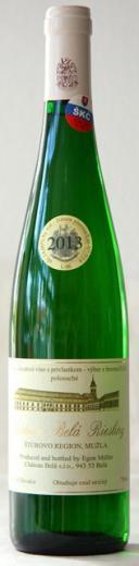 VYPREDANÉ - RIZLING RÝNSKY CHATEAU BELÁ 2013 Výber z Hrozna Polosuché víno, obj. 0,75 L, Alk. 14 % obj.