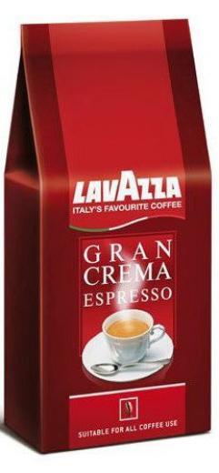KÁVA ZRNKOVÁ COFFEE LAVAZZA Gran Crema Espresso 1kg 60% Robusta 40% Arabica Italia