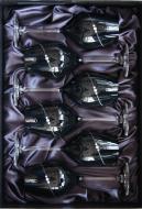 Pohár-Kalich na biele víno 360ml Diamante Black Silouette white