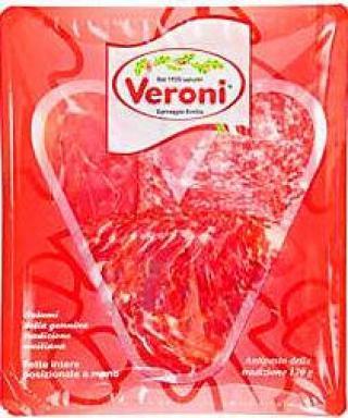 Antipasto Misto Veroni sušená šunka prosciutto crudo salami 120g