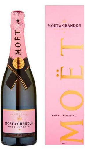Moet & Chandon Champagne Impérial Rosé + krabica darček, obj.0,785 L., Alk. 12 % obj.