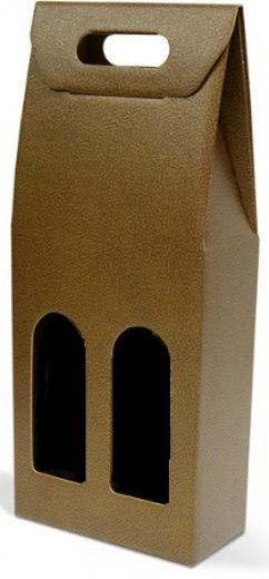 Marrone kartónový obal box taška odnosná na víno 2 fľaše