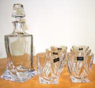Quadro WHISKY SET FĽAŠA 0,85 l , 6 ks poháre Crystalite Bohemia Crystal