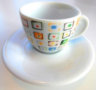 Šálka espresso dANCAP káva edícia Ricolli & Co. s tanierikom, objem 0,05L