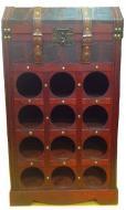 VYPREDANÉ - Stojan na víno a destiláty drevený 12 fliaš