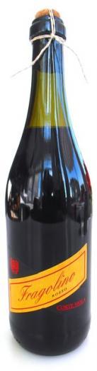 FRAGOLINO jahoda červené perlivý vínny nápoj, obj. 0,75 L., Alk 10 % obj.