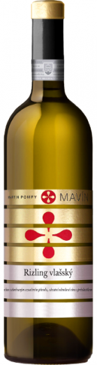 VYPREDANÉ - RIZLING RÝNSKY 2015 Mavín Martin Pomfy Výber z hrozna suché víno, obj. 0.75 L., Alk: 13 % obj.