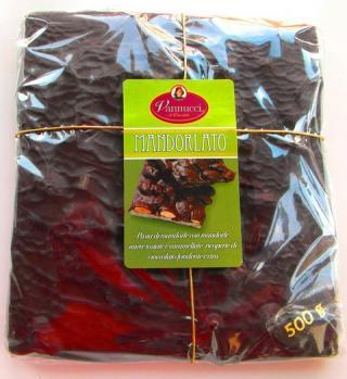 VYPREDANÉ - MANDORLATO Čokoláda tmavá 58% kakao Vannucci Taliansko 500g.