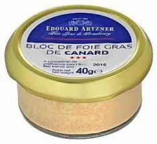 VYPREDANÉ - Blok z kačacej pečene - Bloc de Foie Gras Edouard Artzner 40g glass