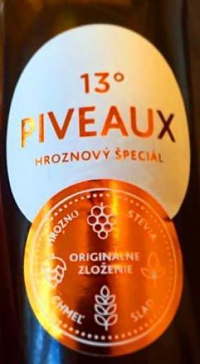 VYPREDANÉ - PIVEAUX pivo hroznový špeciál stevia slad chmeľ, obj. 0,33L, Alk. 5 % obj